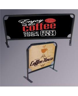 Café Barriers 100cm x 90cm