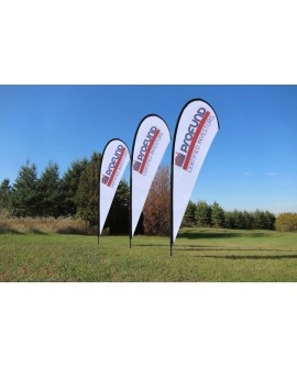 Teardrop Banners Single Sided 2.5m