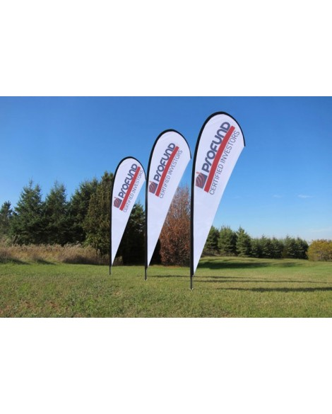 Teardrop Banners Double Sided 4.5m