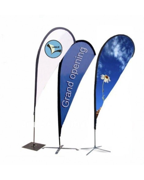 Teardrop Banners Double Sided 2.5m