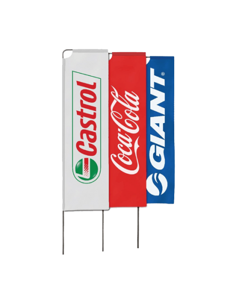 Rectangular Wind Flags Single Sided 3.5m